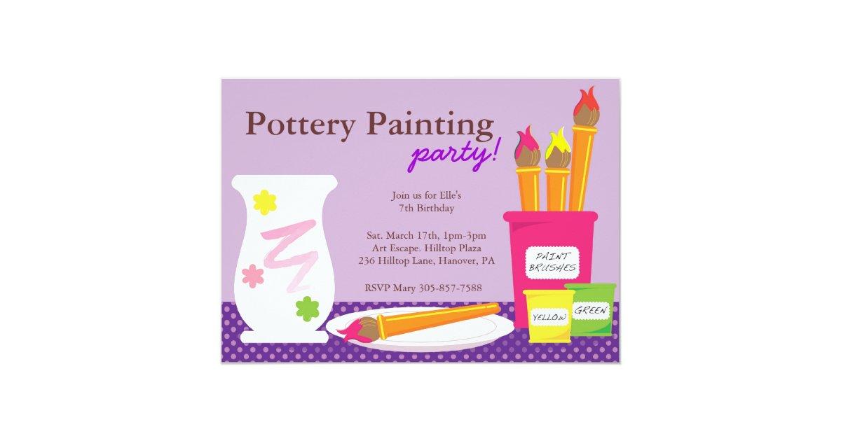 Pottery Painting Party Invitations | Zazzle.com