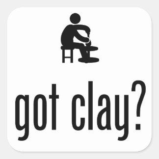 Pottery Square Sticker