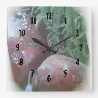 Pottery Square Wallclocks
