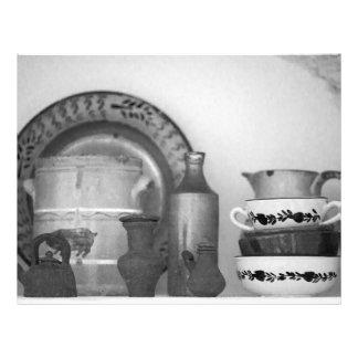 Pottery still life flyer