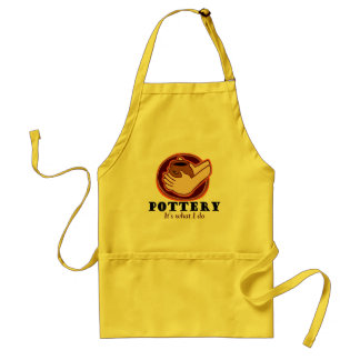 Pottery T-shirts and Gifts. Adult Apron
