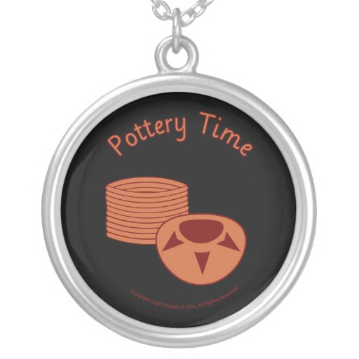 Pottery Time -black Necklaces