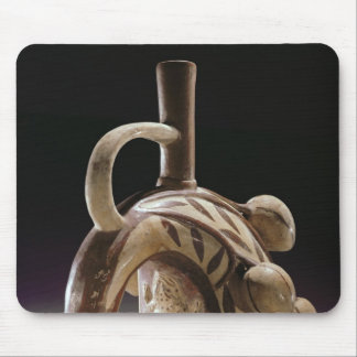 Pottery vessel of a frog climbing a cocoa tree mouse pad