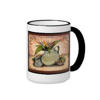 Pottery Wedding Anniversary: Jupigio-Artwork.com Ringer Coffee Mug
