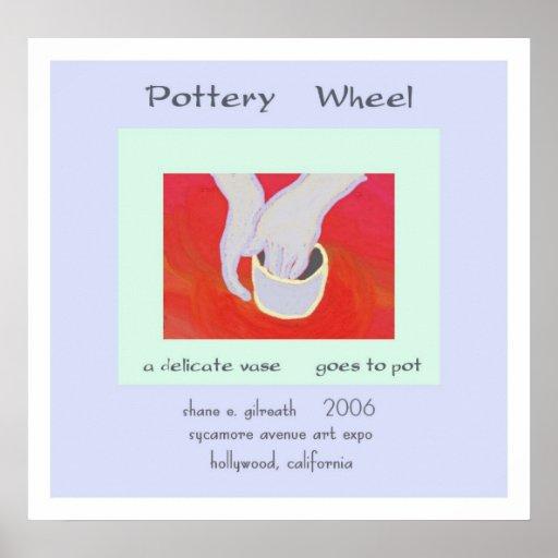 Pottery Wheel Haiku Art Print