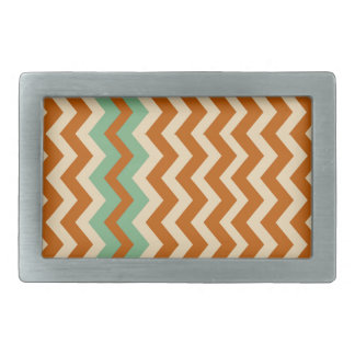 Pottery Zigzags With Sage Green Border Belt Buckles