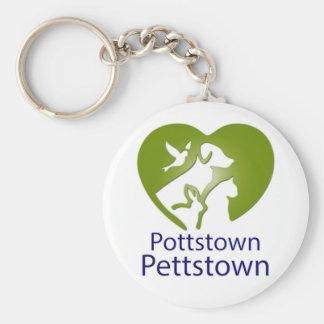 Pottstown Pettstown Basic Button Keychain