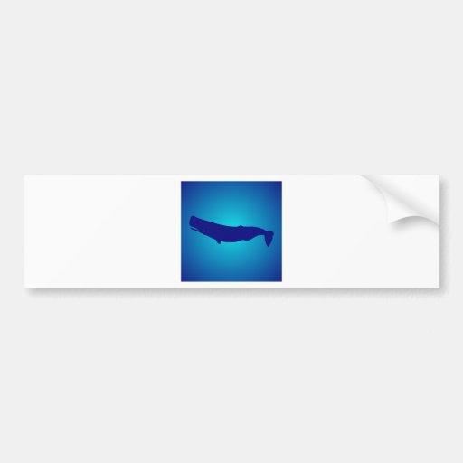Pottwal sperm whale autoaufkleber