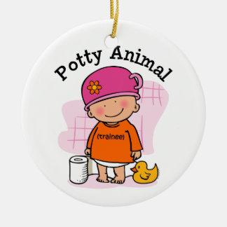 Potty Animal Girl Ornament