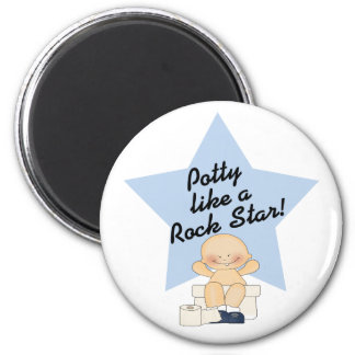 Potty Like A Rock Star 2 Inch Round Magnet