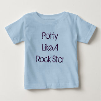 Potty Like A Rock Star Baby T-Shirt