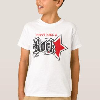 POTTY LIKE A ROCK STAR BLACK KIDS T-SHIRT