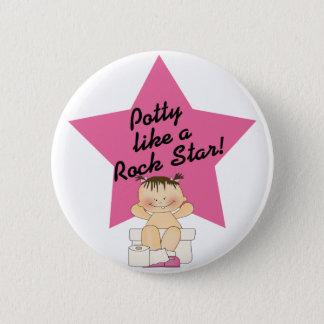Potty Like A Rock Star Girl Pinback Button