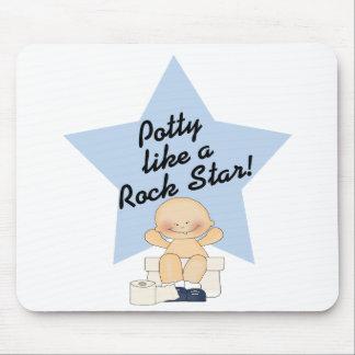 Potty Like A Rock Star Mouse Pads