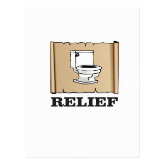 potty relief fun postcard