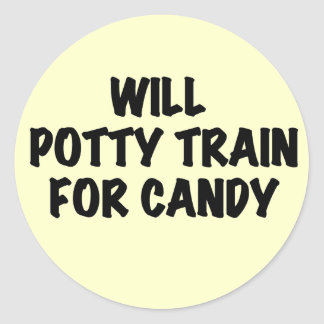 Potty Train for Candy Tshirts and Gifts Stickers