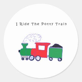 Potty Train Sticker
