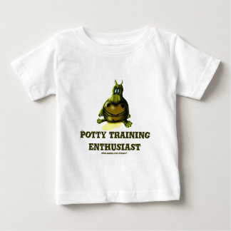 Potty training enthusiast funny hippo baby t-shirt