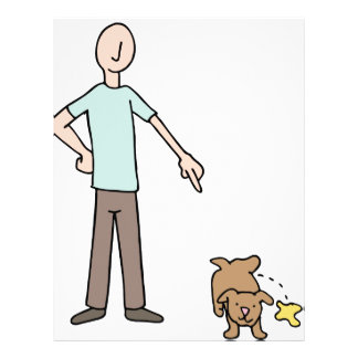 Potty Training Puppy Dog Letterhead