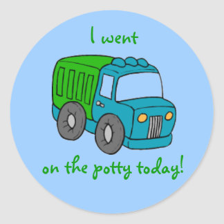 Potty Training Reward Sticker--Truck Classic Round Sticker