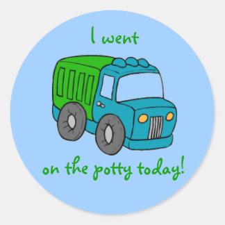 Potty Training Reward Sticker--Truck Classic Round Sticker