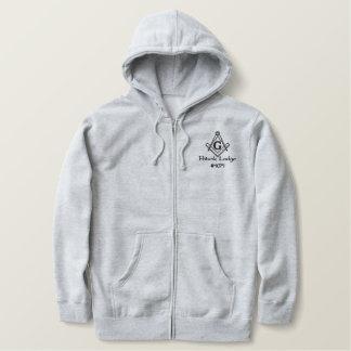 Potunk Lodge Embroidered zipper hoodie