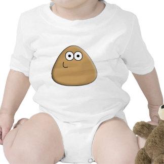 Pou feliz trajes de bebé