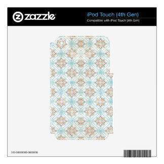 pouf - blue tan orange.png decals for iPod touch 4G