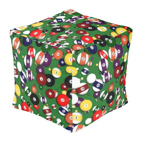 Pouf - Cube - Billiards