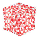 Pouf - Cube - Shades of Red Mosaic