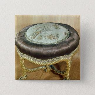 Pouffe, Second Empire Style Pinback Button