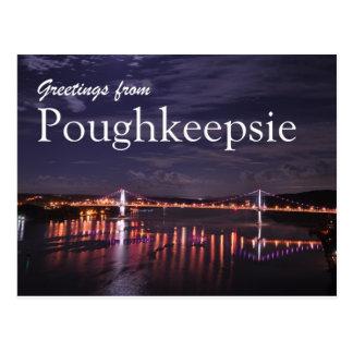 Poughkeepsie en la noche postales