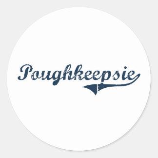 Poughkeepsie New York Classic Design Sticker