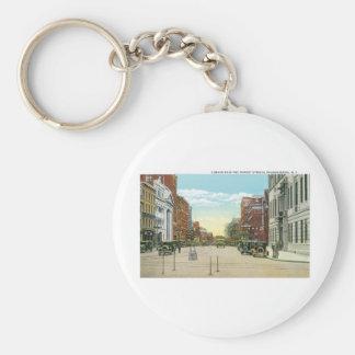 Poughkeepsie, NY Basic Round Button Keychain