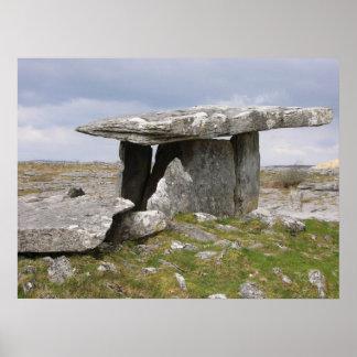 Poulnabrone dolmen poster