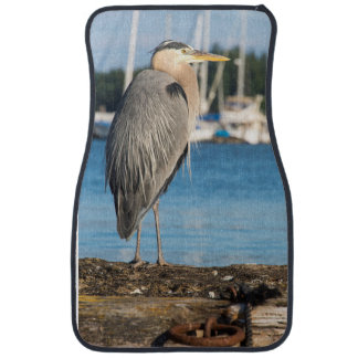 Poulsbo Great Blue Heron perched Car Mat