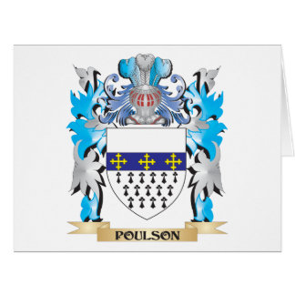 Poulson Coat of Arms - Family Crest Greeting Card