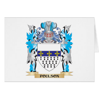 Poulson Coat of Arms - Family Crest Card