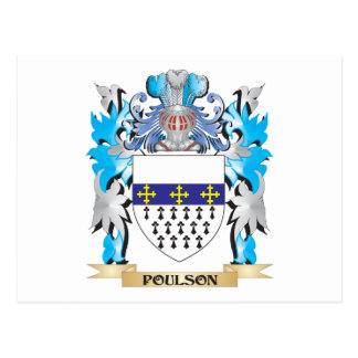 Poulson Coat of Arms - Family Crest Postcard