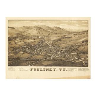 Poultney Vermont (1886) Canvas Print