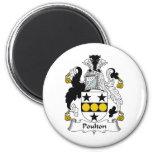 Poulton Family Crest Magnets