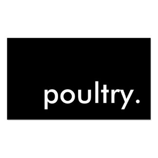 poultry. Double-Sided standard business cards (Pack of 100)