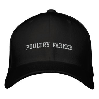 Poultry Farmer Embroidered Baseball Hat
