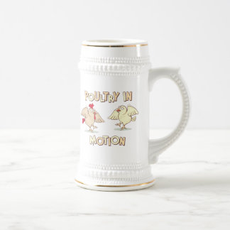 Poultry in Motion Beer Stein
