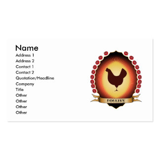 Poultry Mandorla Double-Sided Standard Business Cards (Pack Of 100)
