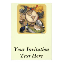 Poultry of the World Invitation