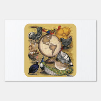 Poultry of the World Lawn Sign
