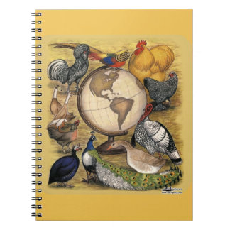 Poultry of the World Spiral Notebook