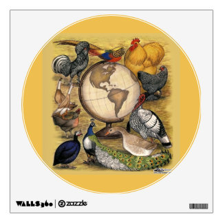 Poultry of the World Wall Decal