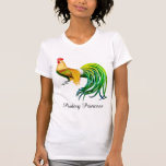 Poultry Princess Fancy Rooster Ladies T Shirt